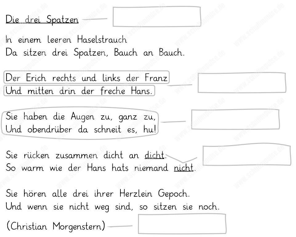 Winter rondell gedicht Deutsch: Arbeitsmaterialien